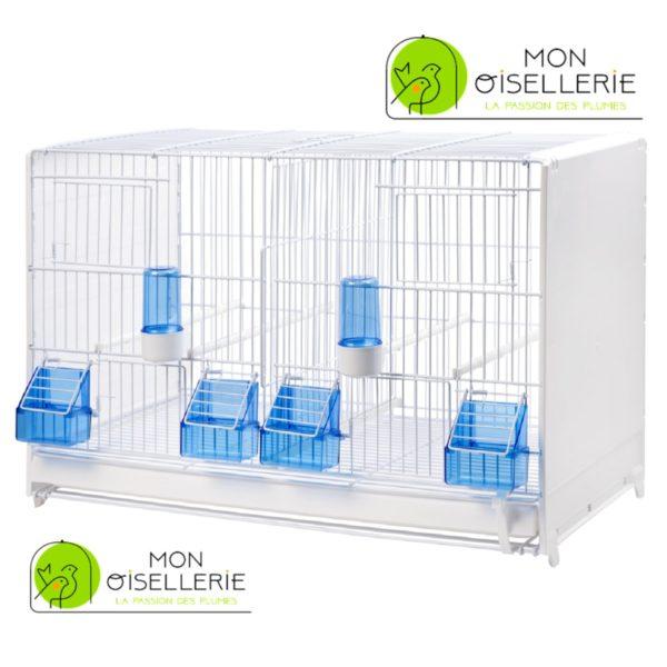 Cage d'élevage pliable blanche laquée 58cm 2GR